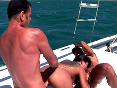 Babalu is yearning to be a part of a threesome on a boat