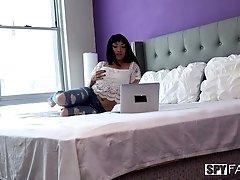 Hot hidden camera video featuring yummy brunette Rina Ellis