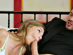Beautiful blonde in sexy socks gets her fucking life