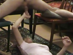 Cock milked by brunette