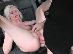 Perky tits amateur blondie babe anal fucked in the cab