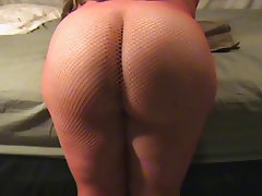 Showing Off My Ass In Fishnet!!!
