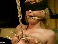 Girl gets tied up and fucked hard