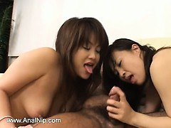FFM asian threesome from mongolian
